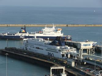 P&O Ferry at Dover Port