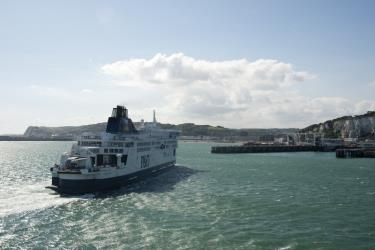 P&O Ferry Arrives at Dover Port