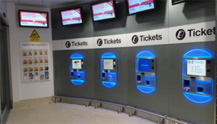 Airport bus ticket machines