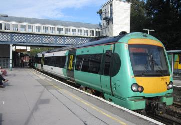 Southern service at Lewes railway station