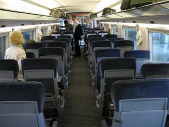 Interior of ICE train