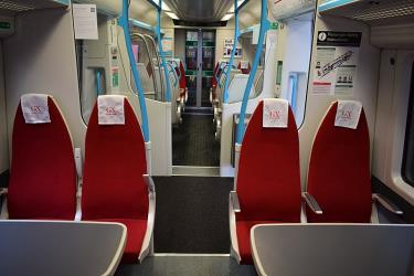 1st Class Interior of Gatwick Express